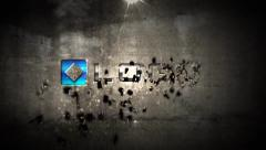 Dark 3d Shatter Crumble Particles Effect Business Logo Reveal Animation Intro Stock After Effects