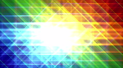 4K Prismatic grid star abstract background loop, rgb, red green blue 2 bright Stock Footage