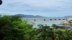 Asian City. Panorama of the city of Nha Trang. Vietnam. Stock Footage
