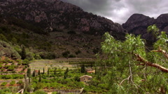 Small village in the mountains of the Island of Mallorca great nature Stock Footage