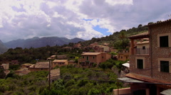 Small village in the mountains of Mallorca Stock Footage