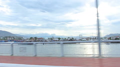 Nha Trang, Vietnam July 10, 2014: Drive. Bay. Asia. Stock Footage