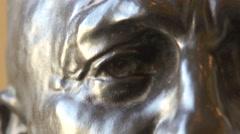 Camille Claudel Bust Sculpture of Auguste Rodin - Paris, France Stock Footage
