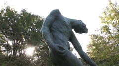Auguste Rodin - The Shade - Paris, France Stock Footage