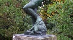 Auguste Rodin - Méditation avec bras - Paris, France Stock Footage