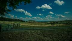 Sky Meadow Time Lapse [Pan, Tilt, Dolly] Stock Footage