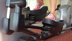 Elliptical Cross Trainer Stock Footage