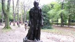 Auguste Rodin - Eustache de Saint Pierre (Burghers of Calais) - Paris, France Stock Footage