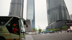 Skyscrapers in Shanghai  Pudong Business District, China Stock Footage