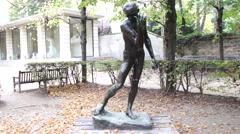 Auguste Rodin - Jacques de Wissant (The Burghers of Calais) - Paris, France - stock footage