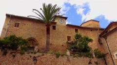 Romantic small spanish village Stock Footage