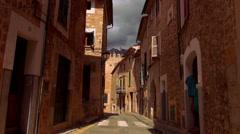Empty street in a romantic spanish village Stock Footage