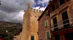 Small village in the mountains of the Island of Mallorca Stock Footage