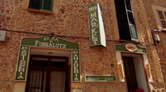 Romantic small spanish village called Fornalutx Stock Footage