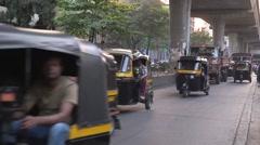 Mumbai BRoll-8- Street traffic 3 - stock footage