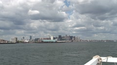 Boston Harbour by Fast Ferry - stock footage