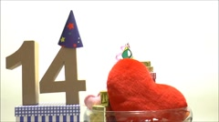 Moving birthday card with party mood for reaching 14 - stock footage
