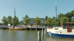 Harbour of Ahrendshoop, Fishland, Mecklenburg Western Pomerania, Germany Stock Footage