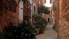 Beautiful mansions in a small spanish village Stock Footage