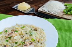 italien risotto with mushrooms - stock photo