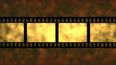 Movie Film Particle Background Animation - Loop Golden Stock Footage