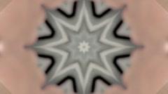 Extra Slow Black White Brown Kaleidoscope Stock Footage