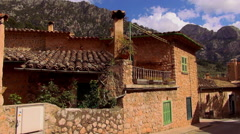 Small romantic village in the mountains of the Island of Mallorca Stock Footage