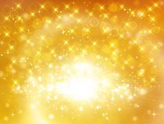 Stock Illustration of Glittery golden festive background with stars