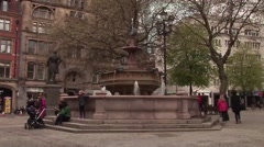 Manchester BRoll- Fountain Stock Footage