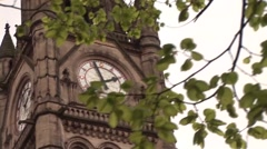 Manchester Clock Tower Stock Footage
