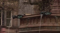 Manchester BRoll-Close ups of fountain Stock Footage