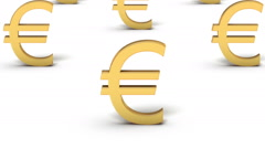 Endless Euro Symbols vertigo effect - stock footage