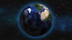 Earth Zoom from space to Orlando Stock Footage