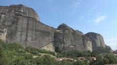 Meteora mountains, Kalabaka, Ancient buildings Stock Footage