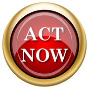 Stock Illustration of act now icon