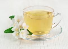 Tea with jasmine Stock Photos