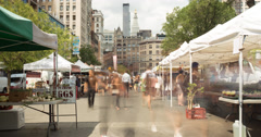 Union Square Market Time Lapse 4K Stock Footage