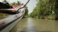 Tropic boat ride low angle shot Stock Footage