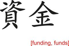 Chinese Sign for funding, funds - stock illustration