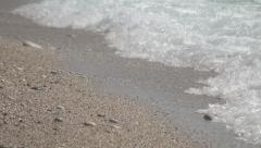 HD sea shore. Crystal water. Sand, wave. Beach vacation. Summer holiday. Stock Footage