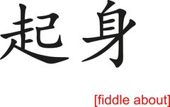 Stock Illustration of Chinese Sign for fiddle about