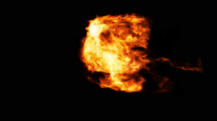 Intense Flame Thrower Burst with Alpha - stock footage