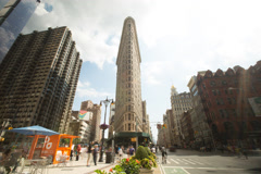 NYC Flatiron Timelapse 4K Stock Footage