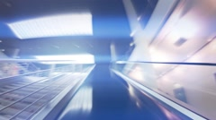 Rise into the sky on the escalator, concept motion Stock Footage