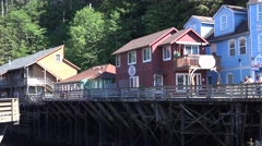Ketchikan, Alaska, Red light district Stock Footage