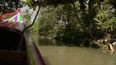 Thai boat ride impression - stock footage