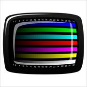 Tv - color test pattern - test card Stock Illustration