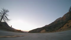 Driving on the Angels Crest highway during Golden Hour 4K Stock Footage