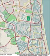 Gold Coast Australia aerial view Stock Illustration