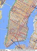 New York Manhattan aerial view Stock Illustration